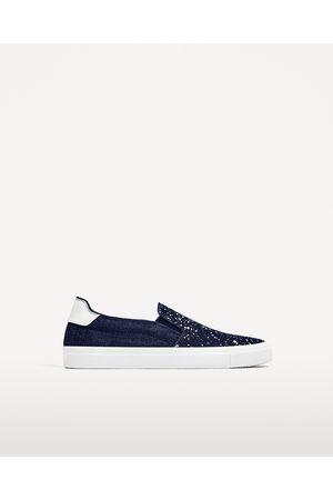 Hombre Zapatos - Zara DEPORTIVO DENIM SALPICADURAS DE PINTURA