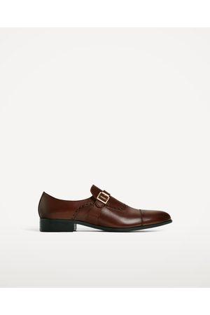 Hombre Zapatos - Zara ZAPATO PIEL MARRÓN HEBILLA