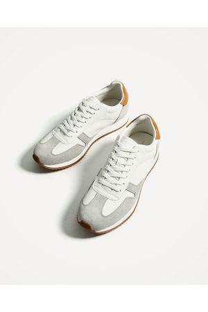 Hombre Zapatos - Zara DEPORTIVO COMBINACIÓN DE MATERIALES - Disponible en más colores