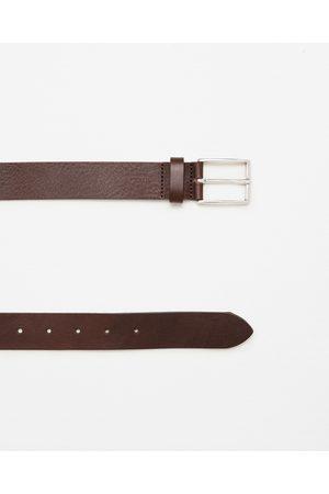 Hombre Cinturones - Zara CINTURÓN VAQUETA - Disponible en más colores